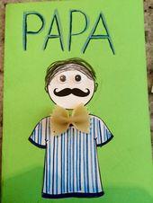 Carte de la fête des pères (super facile, réalisée avec des cocos du présco…
