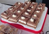 The popular Nutella slices are made from cocoa biscuit dough with two layers of cream …