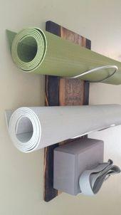 3-Tier-Yoga-Matte-Halter an der Wand 24 verstärkte | Etsy
