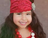 Esta pieza es simplemente increíble. Hermoso encaje morado de 5 pulgadas adorna …   – Baby girl headband