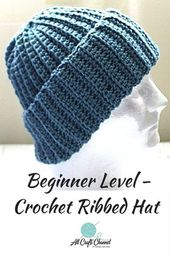 Easy Crochet Ribbed Hat – A beginner level Crochet Hat – All Crafts Channel
