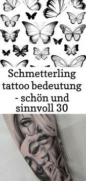 Schmetterling Tattoo Sinn – schön und sinnvoll 30 – Tattoos