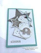 Baby Cards Kreativpapier: Elefantastisch #2
