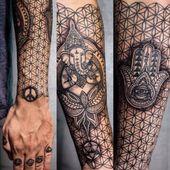 ▷ 1001+ Ideen für Flower of Life Tattoo Designs