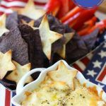 4th of July Appetizer Recipe: Chips & Cheese Dip