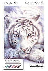 Kugelschreiber Art -White Tiger von ArtisAllan auf DeviantArt