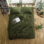 Green Linen Duvet Cover, Custom Size Duvet Cover, Green Linen Bedding, Softened quilt cover, Linen doona cover, Green Duvet Cover