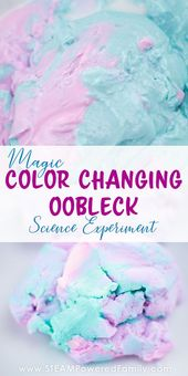 Magic Color Changing Oobleck Science Experiment