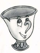 Meine Disney-Zeichnung – Chip von Die Schöne und das Biest