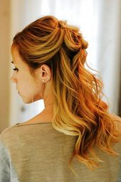 20 Elegant Ideas for Half Half and Short Curly Hairstyles #ShortPromHairst