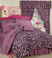 Pink Zebra Print Tröster und Bettwäsche   – Home Decor