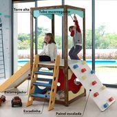 Torre Playground para Brinquedoteca II com Multibrinquedos Casatema