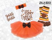 I'm What Every One Is Thankful For Thanksgiving Baby Girl Outfit w/ Bib, Headband, Tutu & Leg Warmer – Thanksgiving Outfits