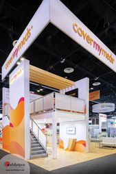 Custom Exhibit Design – Exhibitpro – Double Decker – Modern – Natural Elements – Medical Technology