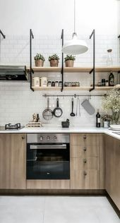 Trendy Kitchen Industrial Black Interior Design 20 Ideas