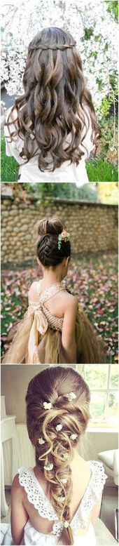 20 ideas wedding hairstyles for kids flower girls to get   Bridesmade Hairstyle …