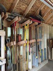 43 idées de bricolage incroyables pour le stockage de la remise – decoarchi.com   – Storage Ideas Tips