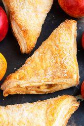 Schnell und einfach Blätterteig Apfel Umsatz Rezept, hausgemacht mit einfachen Zutaten … – Desserts