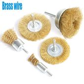 Fppo Brass Wire Wheel Brush Kit For Drill Crimped Cup Brush With 1 4 Inch Shank 0 13mm True Brass Wire Soft Enough To Clean In 2020 Wire Brushes Wire Wheel Paint Brass