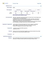 Europass Cv English Examples Free Resume Sample