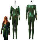 Aquaman Mera Costume Queen Cosplay Atlantis Halloween Jumpsuit Outfit Women