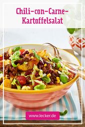 Chili con Carne Kartoffelsalat   – Party-Food und Drinks