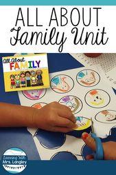 Diese All About Family-Einheit ist eine Kindergarteneinheit, die ich zu Beginn d… – Familienaktivitäten