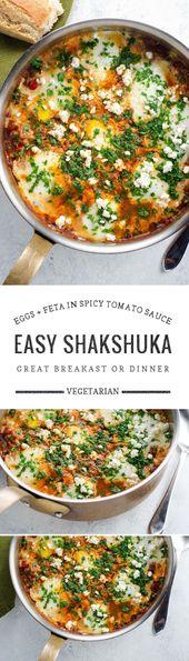 Einfaches Shakshuka-Rezept mit Feta