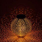 Photo of Dunjaris RGB LED solar lantern with copper ornaments