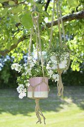 Anleitung: Blumenampel selber machen