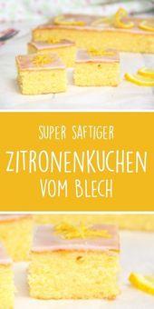 Zitronenkuchen vom Blech – dieHexenküche.de   Thermomix Rezepte