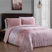 Bungalow Rose Stoughton Velvet Ombre Reversible Comforter Set
