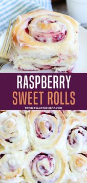 Turn your classic cinnamon roll into this deliciously yummy raspberry cream chee…