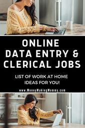 List of Genuine Work at Home Data Entry Jobs – Updated