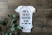 Our Next Adventure Pregnancy Announcement Onesies, Family Baby Announcement, Baby Reveal Photos, Hus  – Products