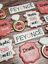 Beyonce inspired bachelorette party cookies. #bachelorette #beyonce #customcooki… – Pärchen