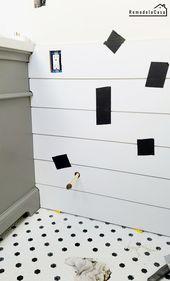 Badezimmerrenovierung: So installieren Sie Real Shiplap
