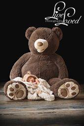 bébé ours nouveau-né Photographie – Babyfotos – #Baby #Babyfotos #Bear #Newborn #Pho …   – babys