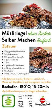 Müsliriegel Selber Machen ohne Zucker – CYL Rezepte – Low Carb Fingerfood // Partyrezepte