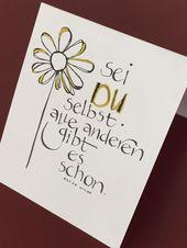 Kalligraphie und alles, was beschriftet werden kann – DIY Cards Design