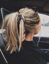 70 Super Easy DIY Frisur Ideen für mittellanges Haar-   #haar #frisuren   –  #D… – Haar