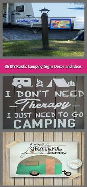 26 DIY Rustic Camping Signs Decor and Ideas –    Camp cookware ought to be easy …