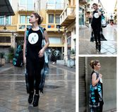 Slouch Midnight Forrest Bag – Übergroße Leggings aus Schlangenleder mit Logo … – Agoraphobix DownTown Collection