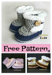 Häkeln Sie Fuzzy Booties – kostenlose Anleitung   – Crafty Stuff