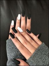 113+ elegante Nageldesigns für kurze Nägel – Seite 38 – Gelnägel – #designs # … – Winter Nails Almond