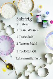 Pfefferminzgrün: Minikerzenhalter aus Salzteig   – Basteln