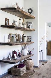 Hochfunktionelles schwebendes Regal für das Wohnzimmer