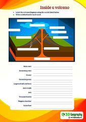 Free Printable Volcano Worksheets Homeschool Giveaways Volcano Worksheet Geography For Kids Geography Worksheets