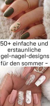 50+ einfache und erstaunliche Sommer-Gel-Nageldesigns – Seite 48 von 50 – Nägel 7   – Nageldesign Schlich
