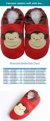 Carozoo Unisex Soft Sole Leather Infant Toddler Children Shoes Panda Red
